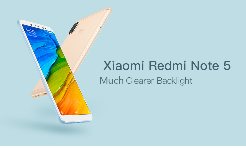 Xiaomi Redmi Note 5 4G Phablet 5.99 inch MIUI 9 Qualcomm Snapdragon 636 Octa Core 1.8GHz 64GB ROM 4GB RAM Dual Rear Cameras Bluetooth 5.0 Fingerprint Recognition 4000mAh Battery