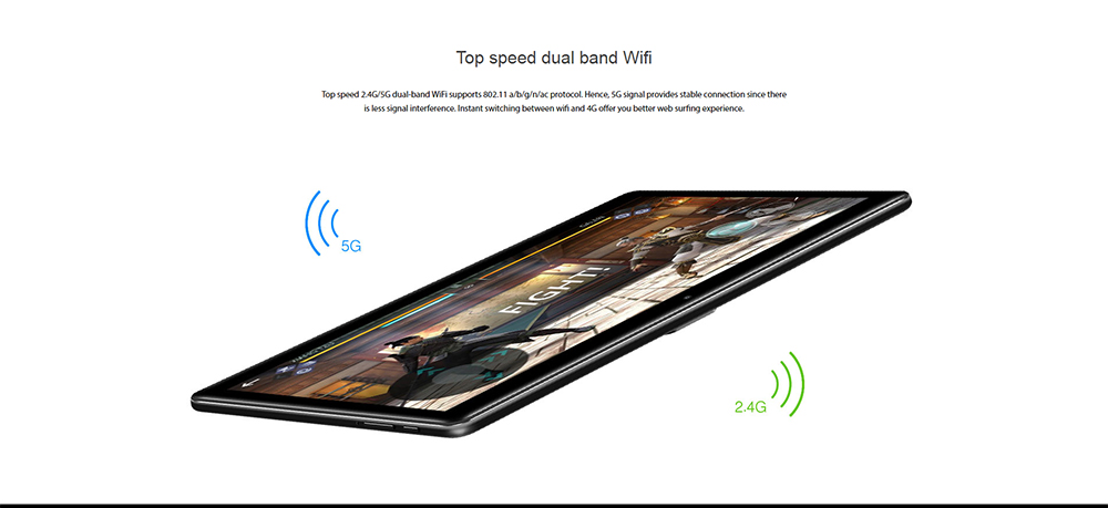 Chuwi Salut 9 Air 4G Tablet PC 10,1 pouces Android 8.0 MT6797 (Helio X20) Deca Core 4 Go de RAM 64 Go eMMC ROM double caméras double WiFi Type-C Bluetooth 4.2