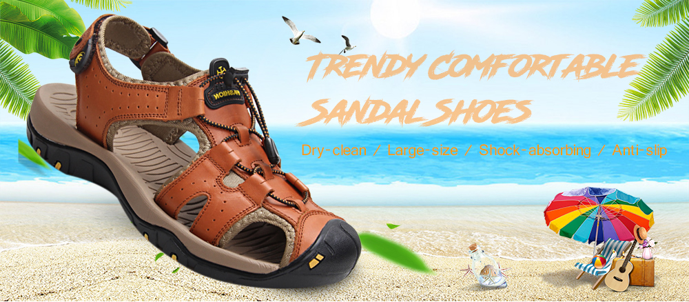 Trendy Outdoor Comfortable Anti-slip Casual Sandal Shoes for Men