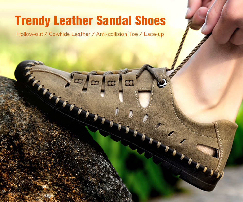 Trendy Outdoor Breathable Anti-slip Casual Sandal Shoes for Men