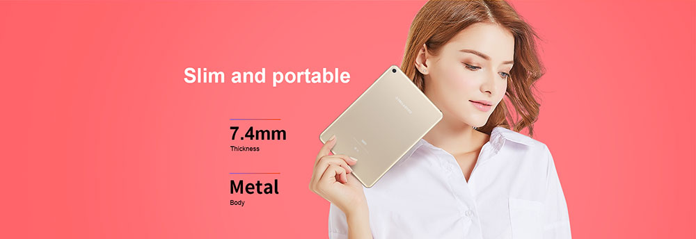 Teclast M89 Tablet PC 7.9 inch Android 7.0 MTK8176 Hexa Core 2.1GHz 3GB RAM 32GB eMMC ROM Double Cameras Dual WiFi HDMI Type-C- Champagne