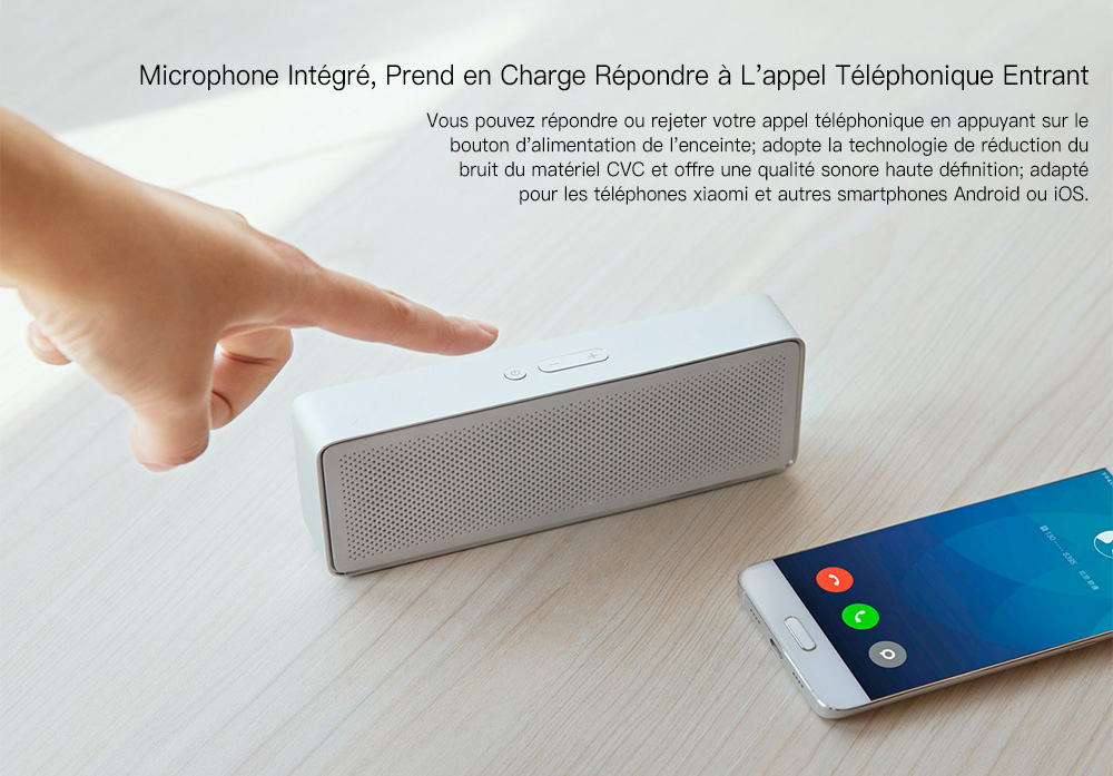 Original Xiaomi XMYX03YM Bluetooth 4.2 Speaker Hands-free - Silver