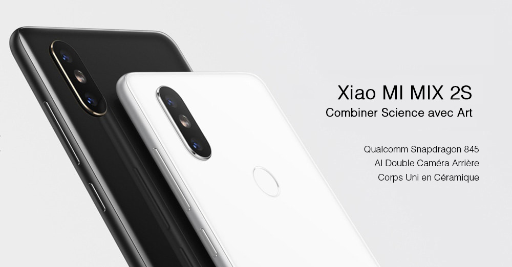 Smartphone Xiaomi MIX 2S 4G Version Globale- Black 6+64GB