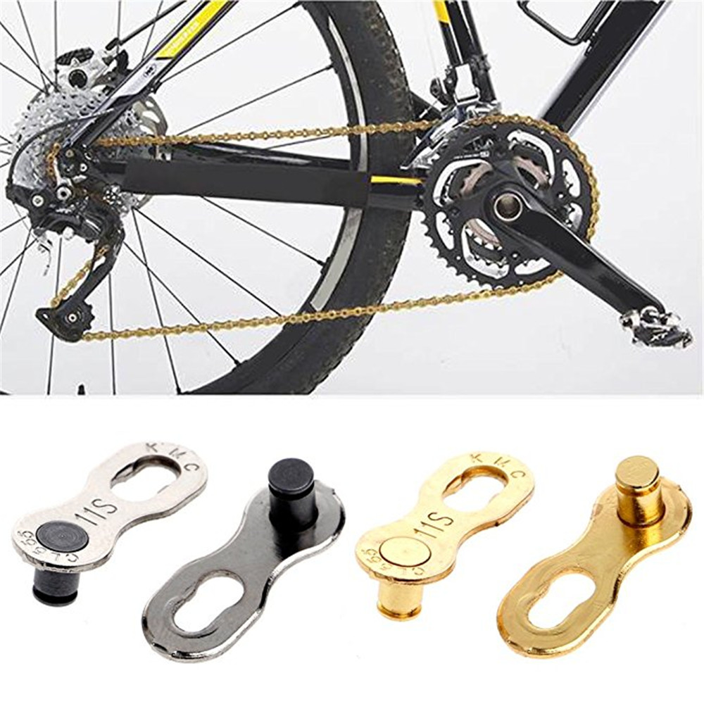 2pcs Bicycle Mountain Road Bike Chain Connector Joint for 6 7 8 Speed Silver*-*