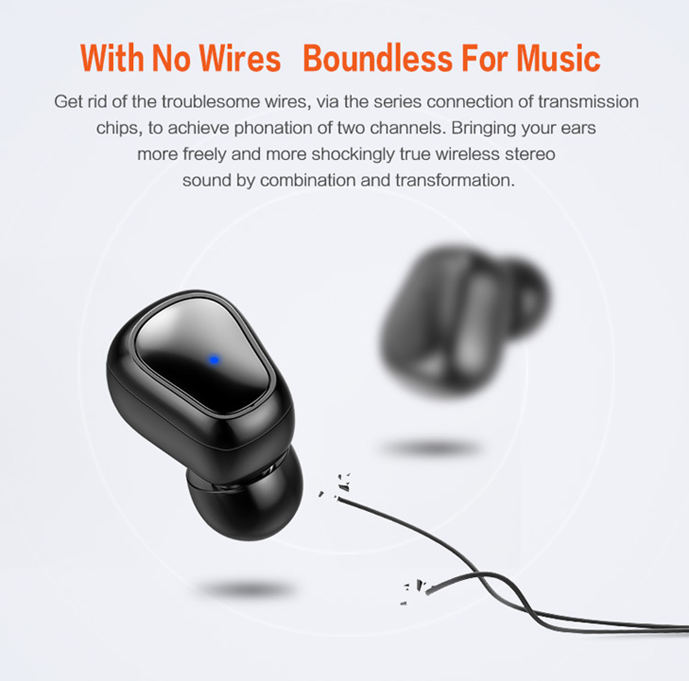 Syllable D900p Tws Bluetooth Earphones Stereo Earbuds Headphone Jack Wiring That True Wireless Portable Hd Communication Black