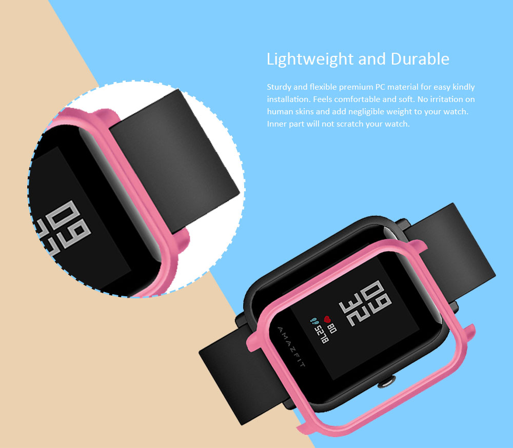 Tamister Watch Cover Case For Xiaomi Huami Amazfit Bip 168 Free Protect Shell Full Coverage Pc Screen Protector Bumper Smart