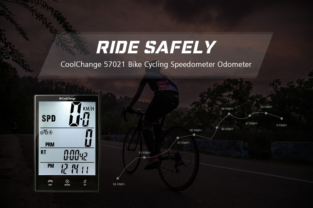 CoolChange 57021 Wired Cycling Speedometer Odometer