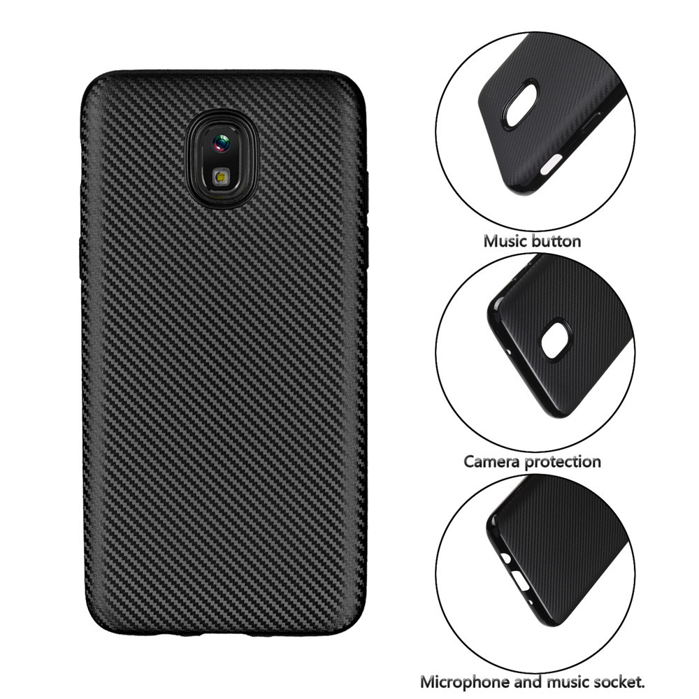 best sneakers 73d05 fc418 Cover Case for Samsung Galaxy J4 2018 Carbon Silicone Rubber Soft TPU