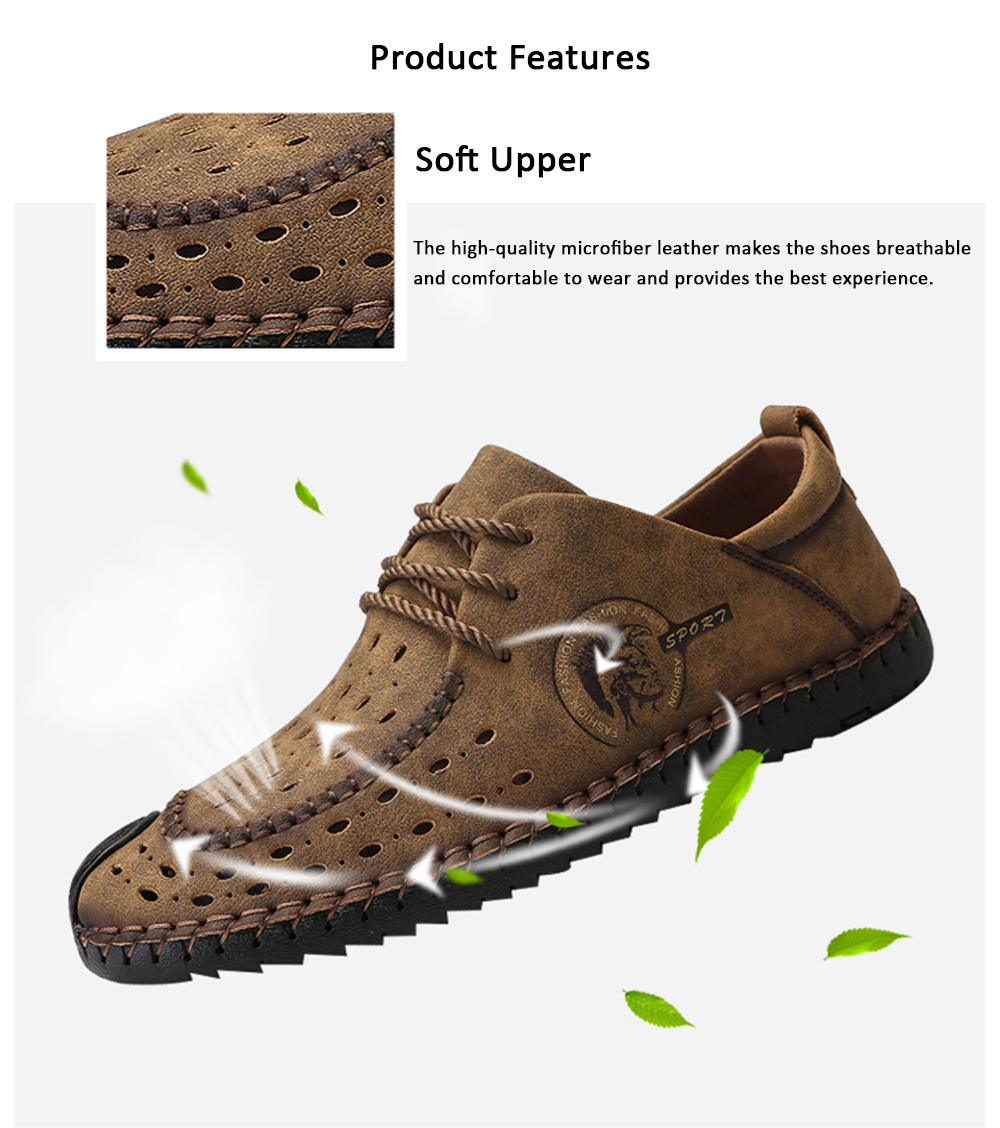 Trendy British Style Breathable Casual Shoes for Men- Black 44