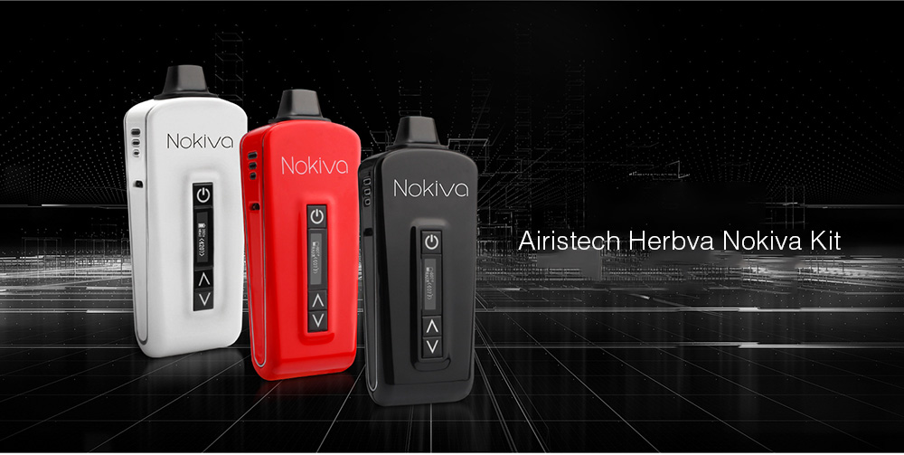 Airistech Herbva Nokiva Kit with Built-in 2200mAh Li-ion Battery for E Cigarette- Black