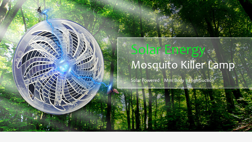 gocomma Solar Energy Mosquito Killer Lamp- Transparent