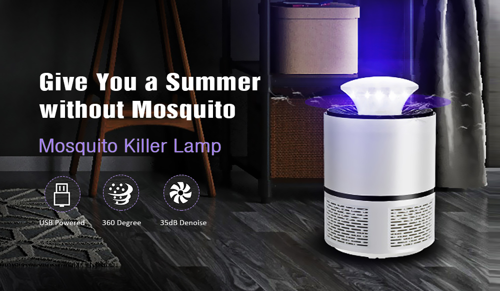HNW - 018 USB Powered Electronic Bug Zapper Mosquito Killer Lamp - Black