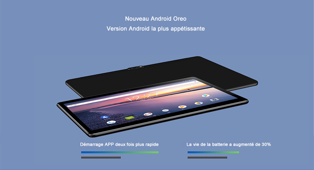 10, 1 pouces Android 8, 0 MT6797 ( Helio X20 )