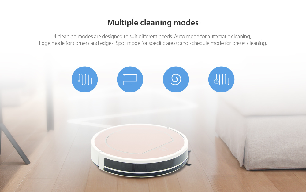 ILIFE V7S Pro Smart Robotic Vacuum Cleaner Cordless Sweeping Cleaning Machine Timing Function IR Sensor Automatic Mop- Rose Gold EU Plug