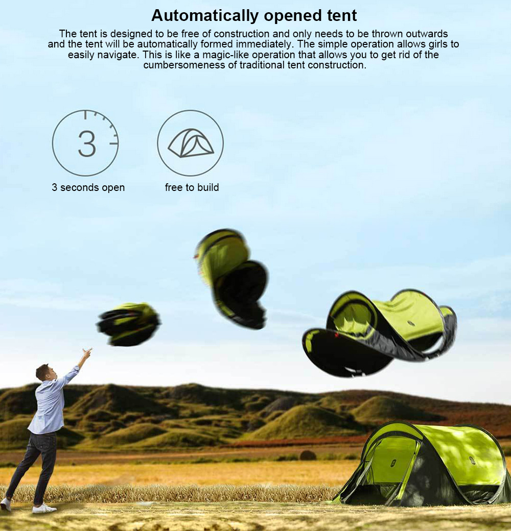 84 With Coupon For Zaofeng Outdoor 3 4 People Double