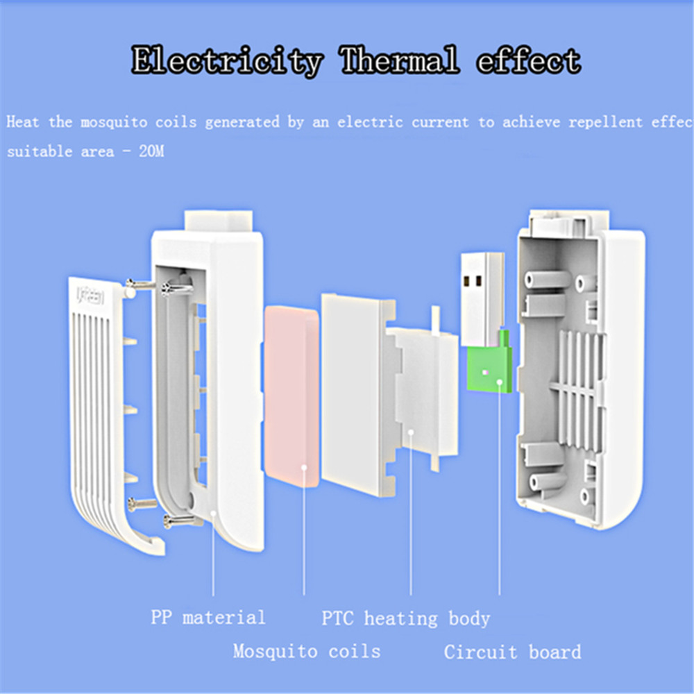 Usb Portable Electronic Mosquito Killer 807 Free Shipping Lamp Driver Board Circuit White