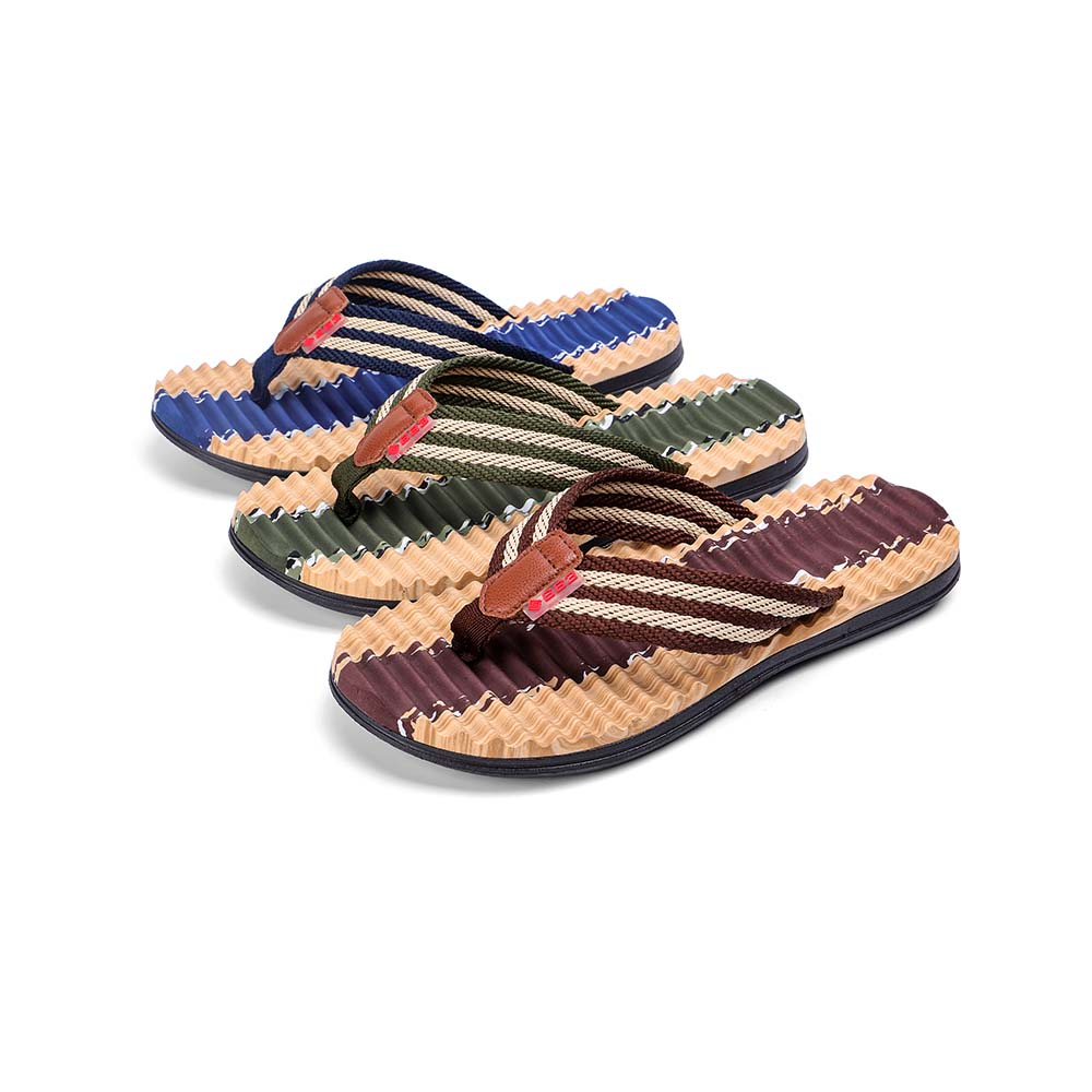 be0a1cd700ca5 Men Striped Flip-Flop Summer Camouflage Slippers Shoes- Blue Orchid 43