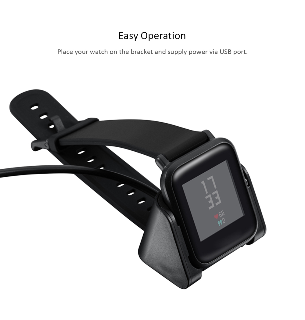USB Charging Cable for Amazfit Bip A1608 Smartwatch- Black