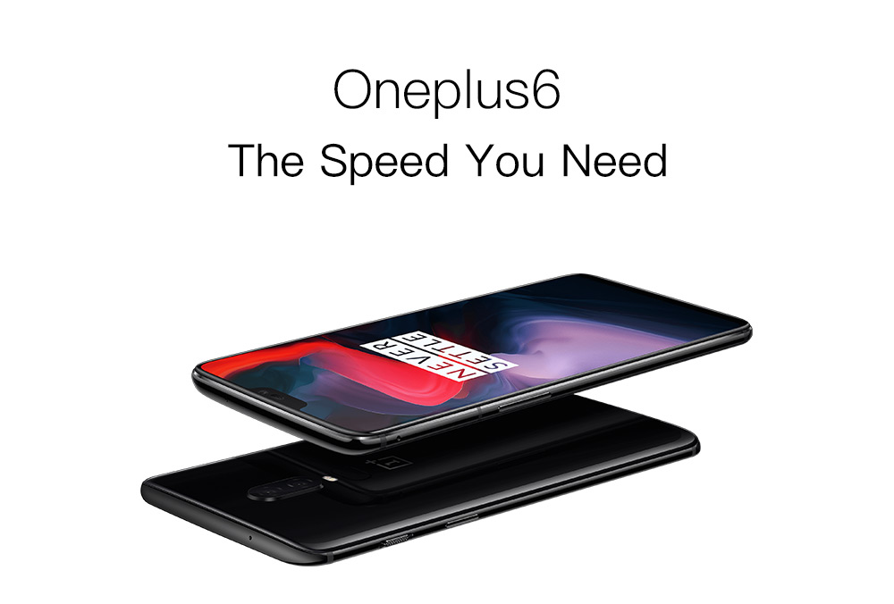 OnePlus 6 4G Phablet 6.28 inch Android 8.1 Snapdragon 845 Octa Core 2.8GHz 6GB RAM 64GB ROM 16.0MP + 20.0MP Rear Camera Fingerprint Scanner 3300mAh Built-in- Mirror Black