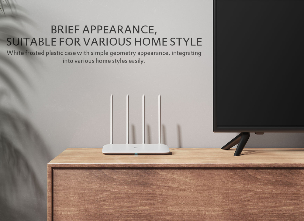 Original Xiaomi Mi Router 4 Wireless 1167Mbps / Dual Band Wi-Fi / Four Antennas / Dual Core- White