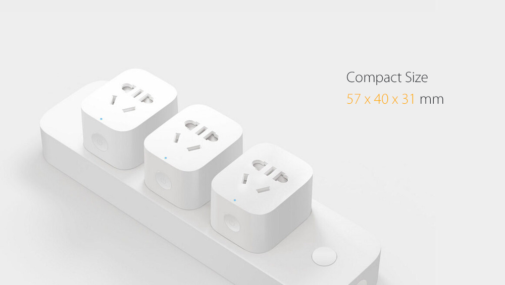 Xiaomi Mijia Smart WiFi Socket APP Remote Control Timer Power Plug Power Detection - ZigBee Version- White Xiaomi Socket