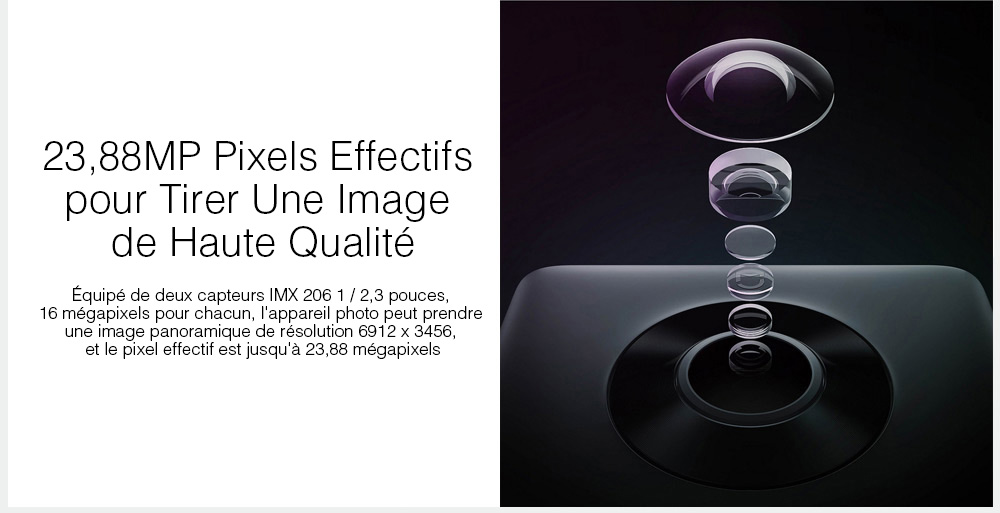 Xiaomi Mi 4K Caméra d'Action Sphérique Panoramique- Black International Edition