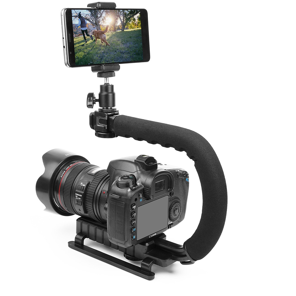 Olympus Air A01 Vertical Shoe Mount Stabilizer Handle Pro Video Stabilizing Handle Grip for