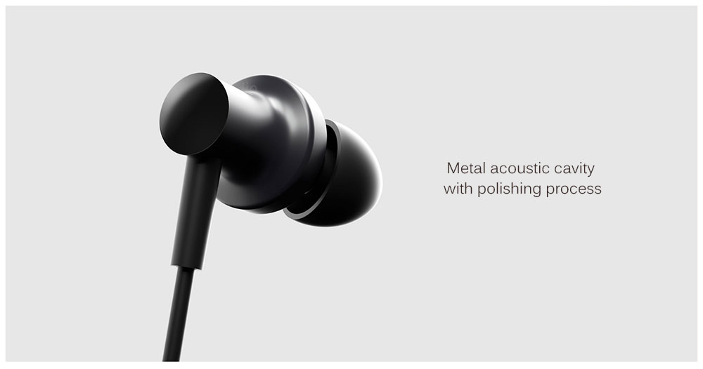 Original Xiaomi QTEJ03JY Hybrid Dual Drivers Earphones Wired Control Earbuds with Microphone- Black