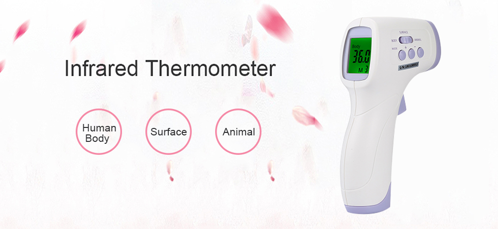 Webri Non-contact Laser Thermometer Infrared Forehead Digital Thermometer LCD Digita Temperature Gun,Fever Thermometer for Baby//Adult