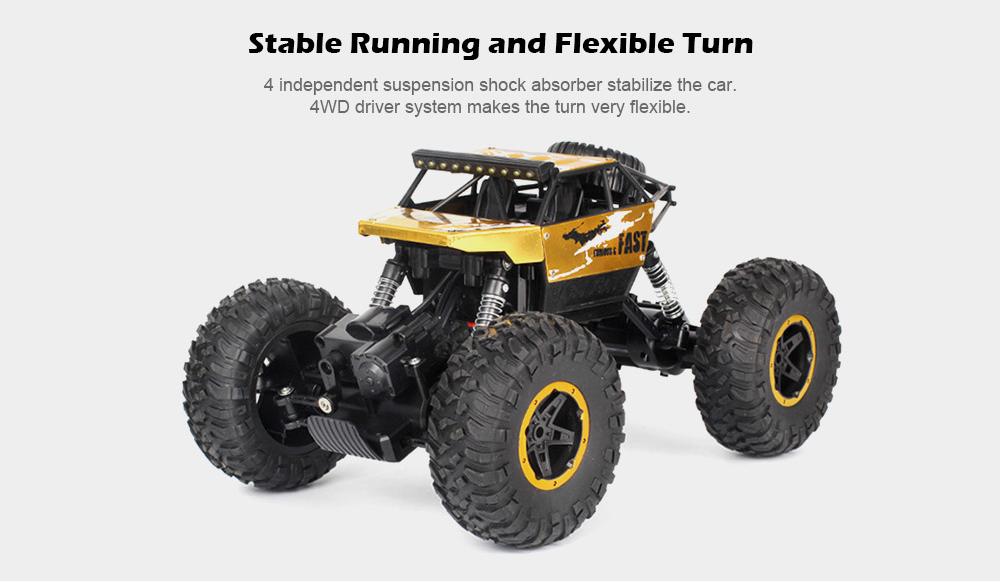 P810 1:18 Half Scale 4WD 15km/h 60 - 90mins Aluminum Alloy High Low Speed Monster Truck RTR- Silver