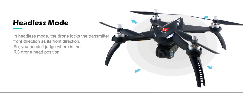 MJX Bugs 5W ( B5W ) WiFi FPV 1080P Camera / Waypoints / Point of Interest / Altitude Hold / One Key Follow RC Drone- Black 3 Batteries