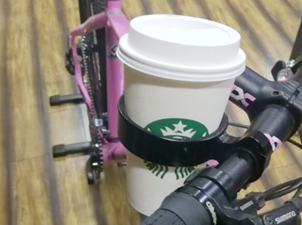 1pc Silver Bicycle Water Cup Holder Bike Handlebar Clamp Mount Coffee Travel Mug
