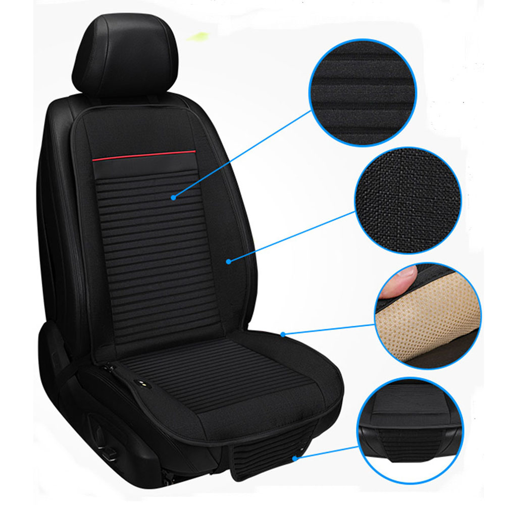 Refrigeration Blowing Cooling Car Seat Cushion Pad Coverage With Breathable Red