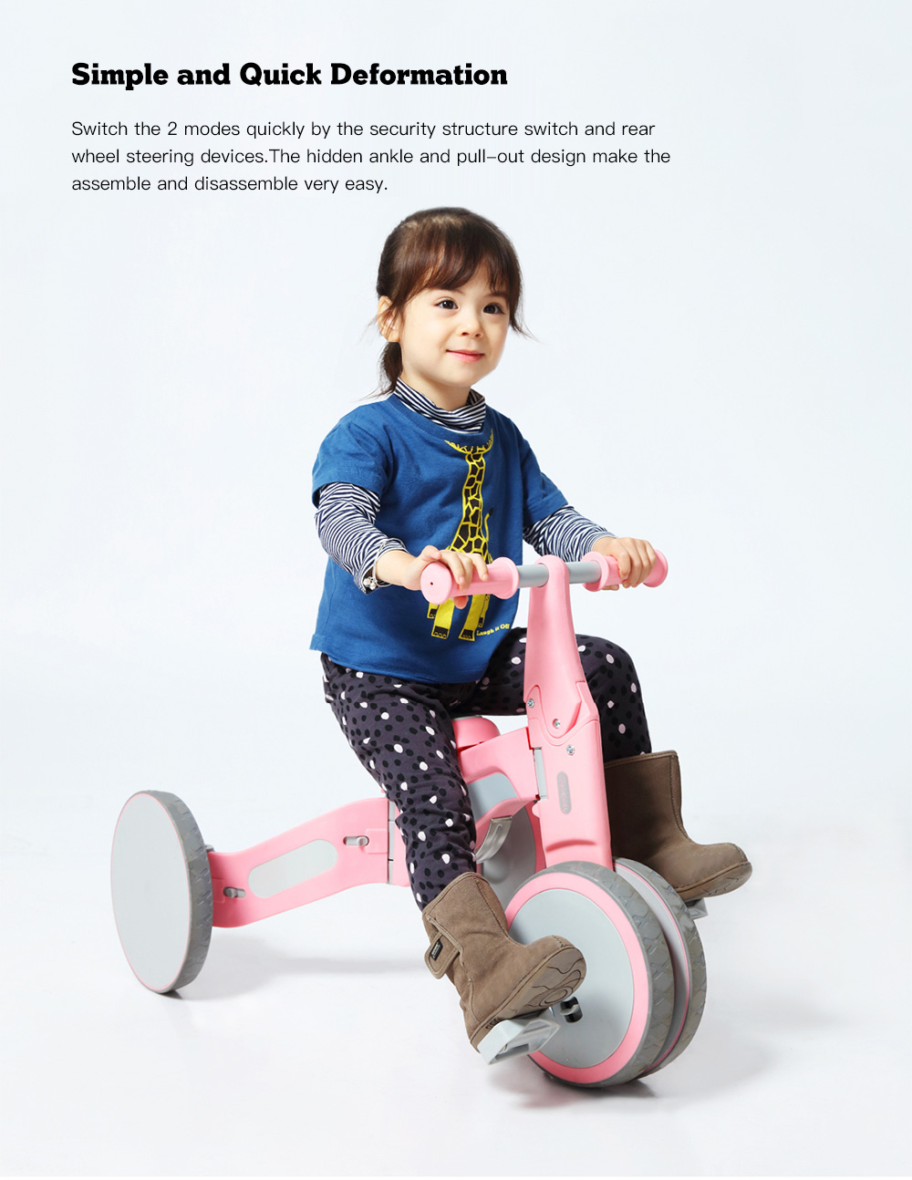 Xiaomi Youpin Kids Deformable Dual Mode Bike Offered For