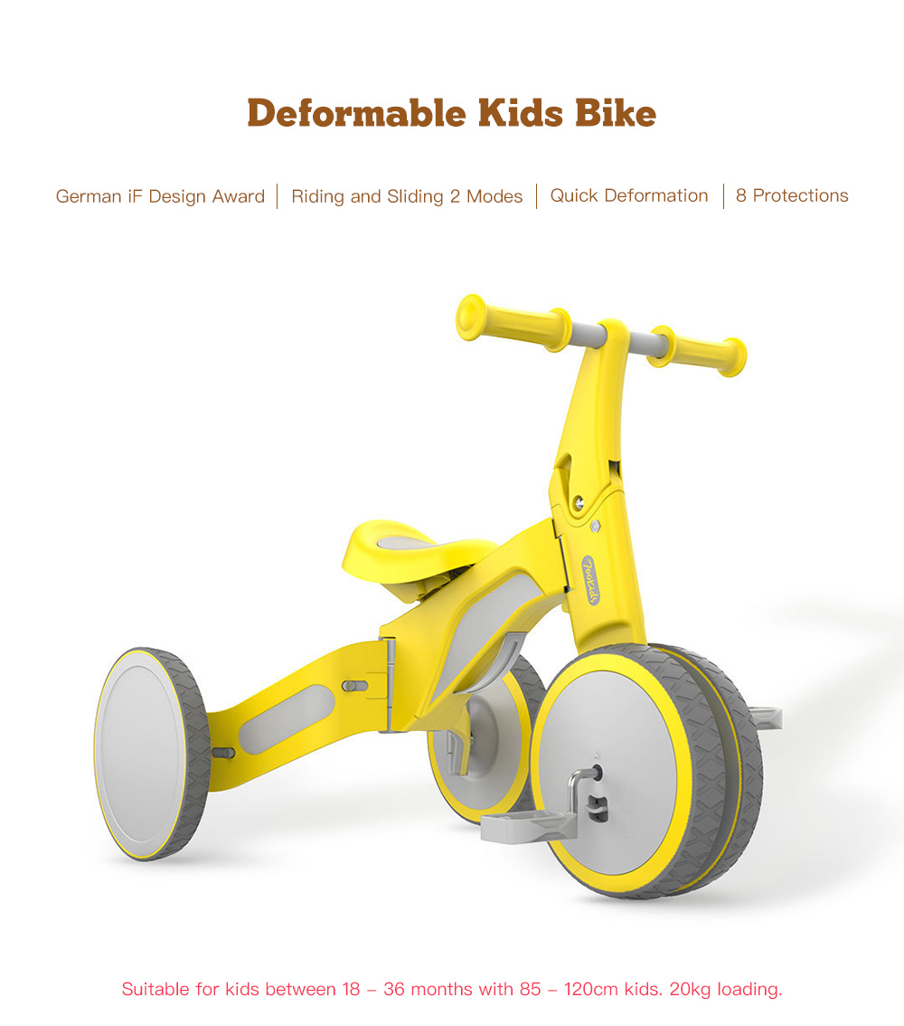 Deformable Dual Mode Bike for Baby from Xiaomi youpin- Pink