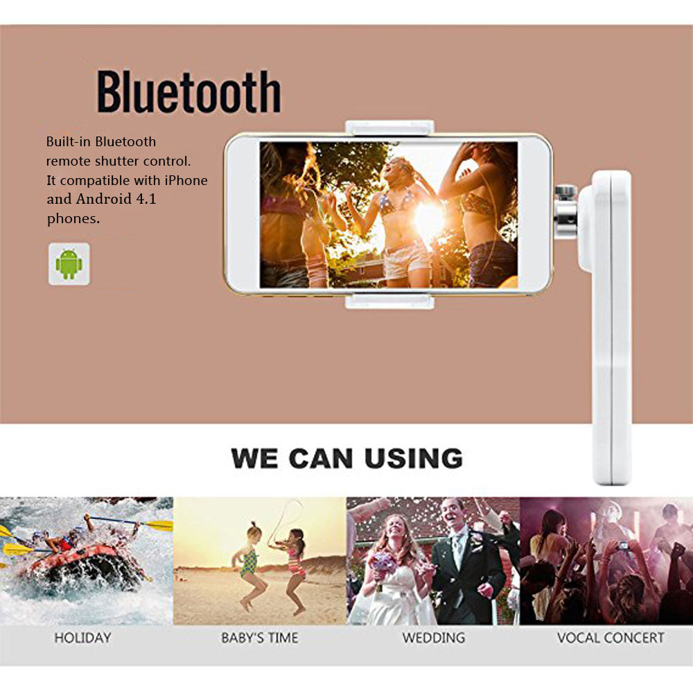 X-CAM SIGHT2 Smartphones Handheld Gimbal Stabilizer- White