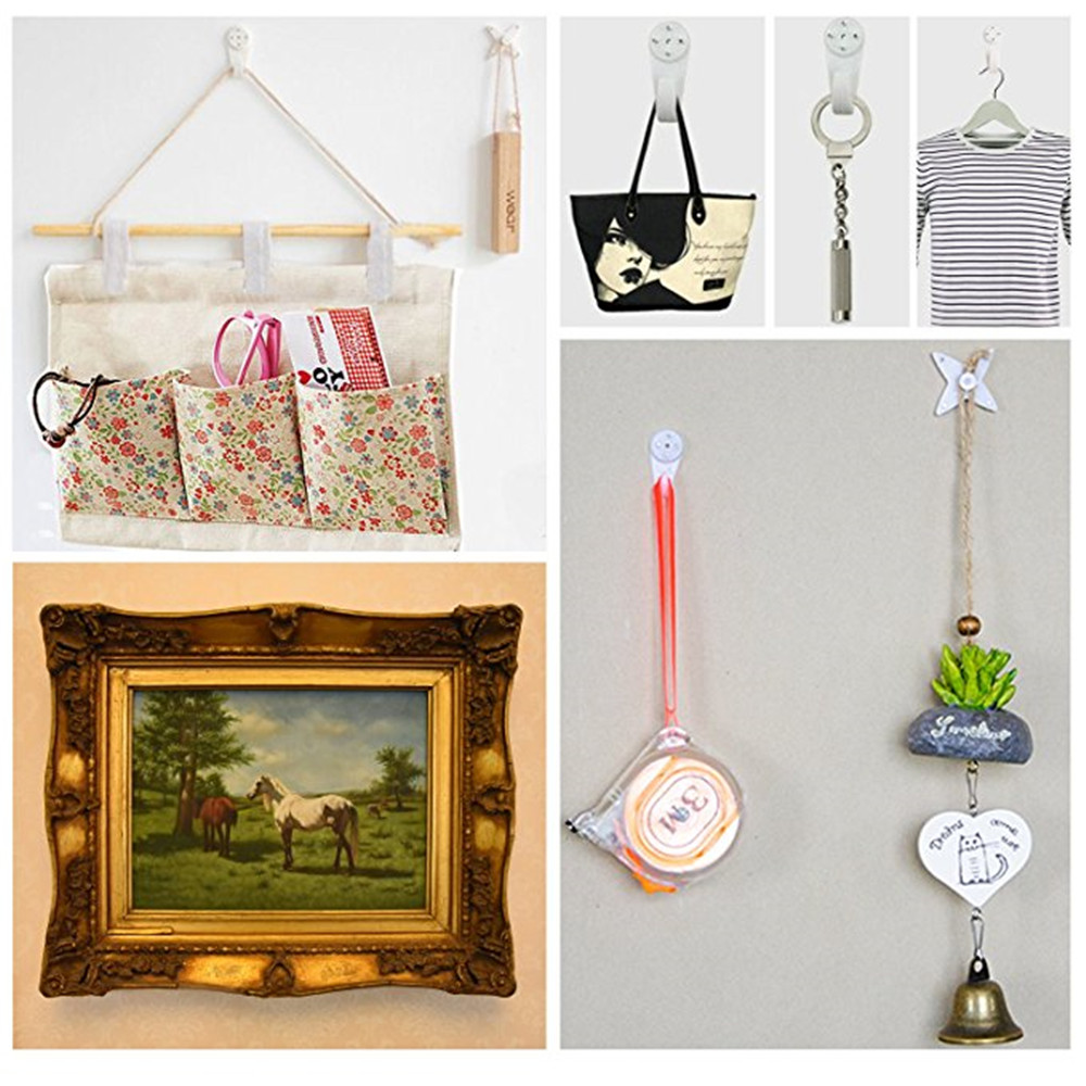 Wall Picture Hooks Invisible Traceless Drywall Hangers Hanging Frame ...