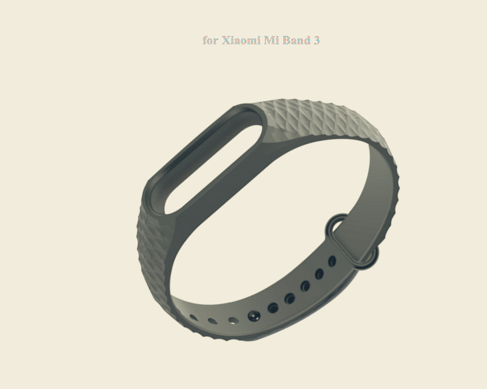 TOCHIC Smart Wrist Watch Strap for Xiaomi Mi band 3- Black