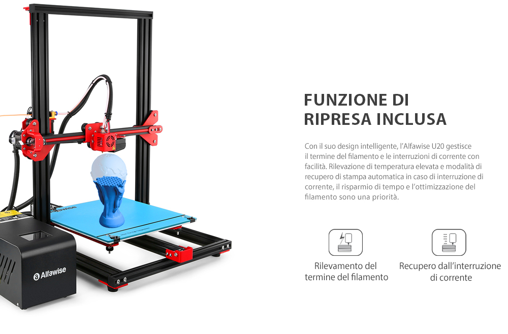 Alfawise U20 Stampante 3D con display 2.8″ Touch