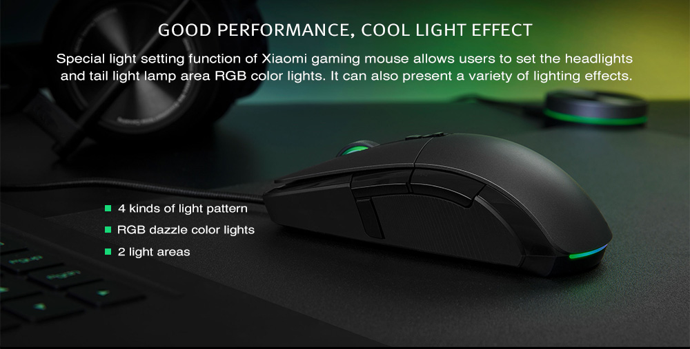 Xiaomi Wired / Wireless Optical Gaming Mouse 7200DPI Programmable RGB - Black
