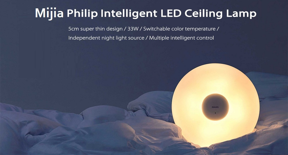 Xiaomi Mijia PHILIPS Zhirui LED Ceiling Lamp White Plafonnier