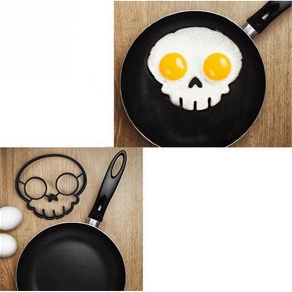 Lovely Cartoon Shape Fried Eggs Mold 2PCS- Black