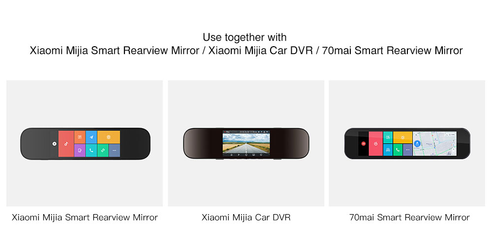 Xiaomi 70mai Car Backup Camera 720P Night Vision IPX7 Waterproof Vehicle Reversing Rear Camera- Black