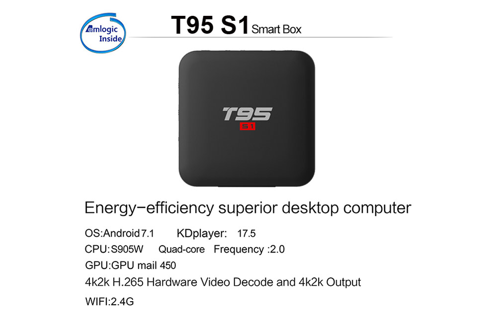 T95 S1 Android TV Box - OEM Customize 4K TV Box Manufacturer