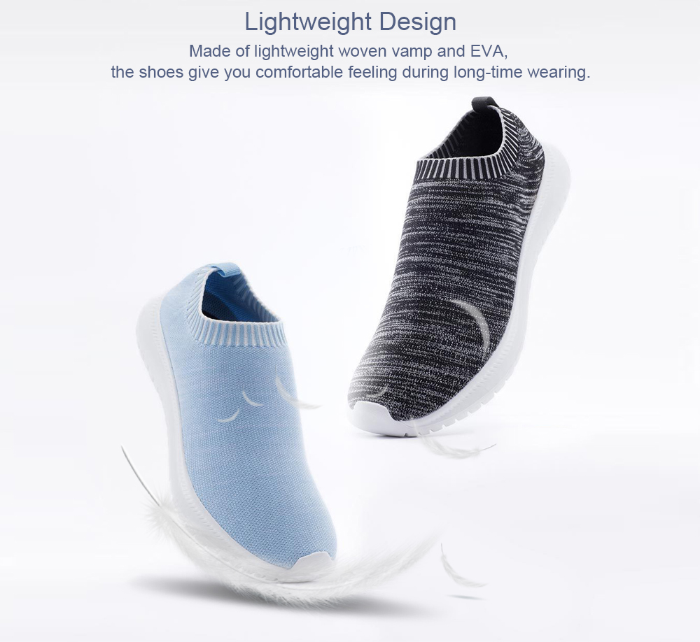 UREVO Casual Lightweight Breathable Sneakers for Women from Xiaomi Youpin- Light Blue 38