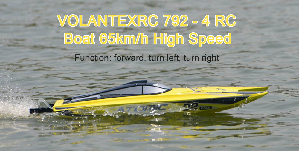 VOLANTEXRC 792 4 RC Boat Toy Yellow