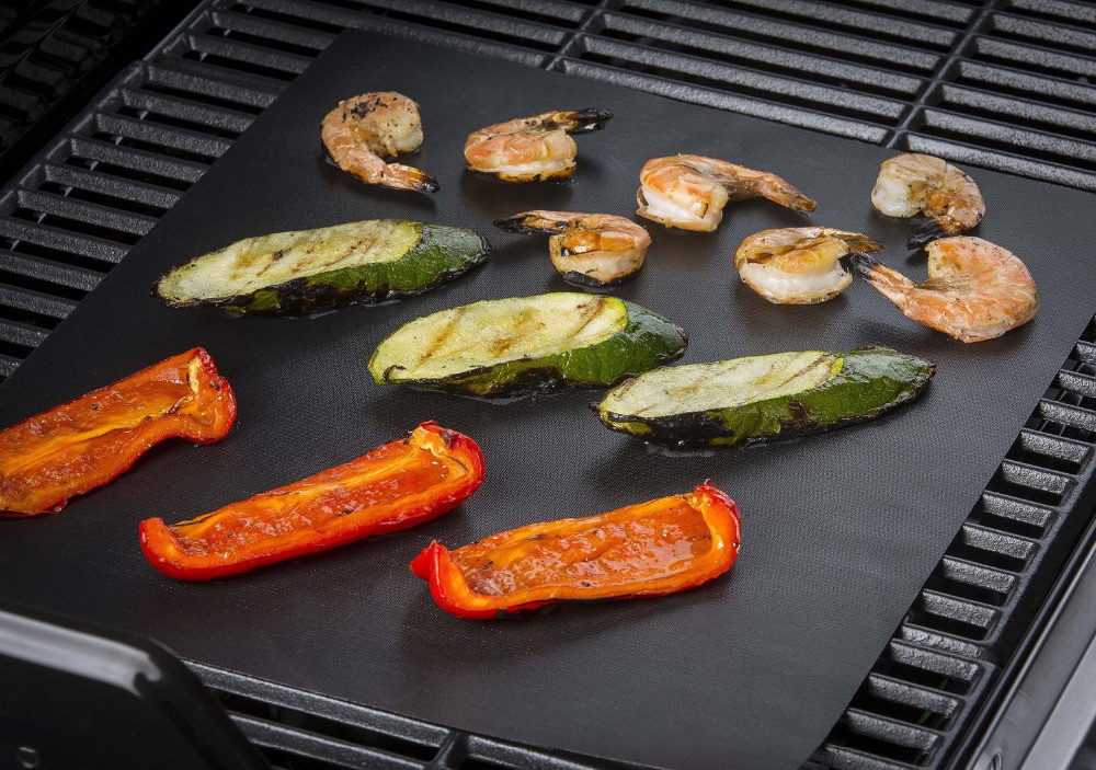 Baking Mat Easy Clean Non-stick Cooking Tool Barbecue Grill- Black
