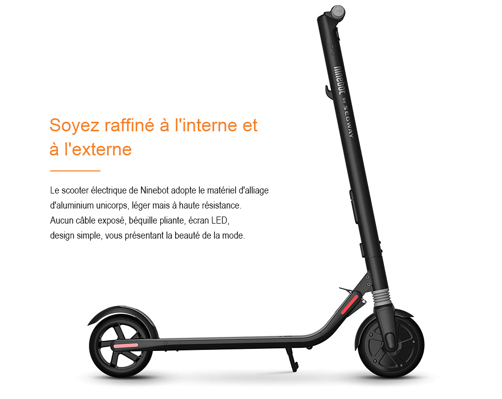 Ninebot Segway ES1 No. 9 Scooter Electrique Pliable de Xiaomi Mijia- Black