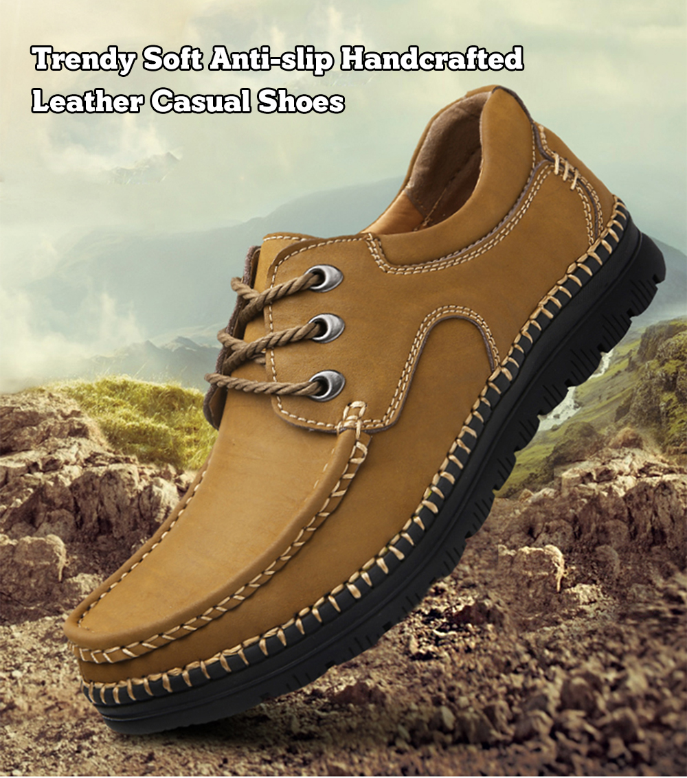 MXL Mens Lace Up Loafers Shoes Breathable PU Leather Casual Business Soft Outsole Dress Shoes