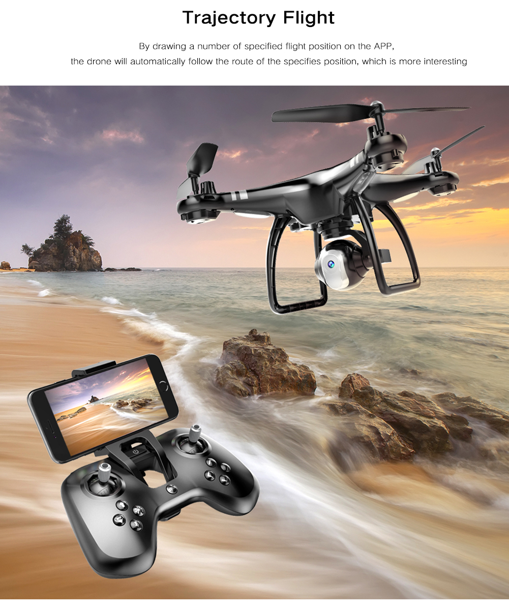 SK X8 Air Press Altitude RC Quadcopter Drone- Black No camera